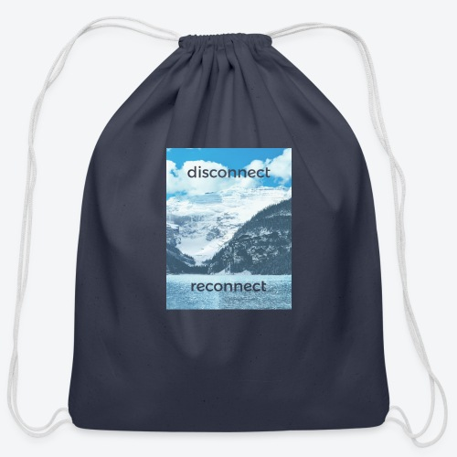 Disconnect Reconnect - Cotton Drawstring Bag