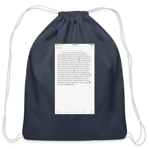 Text from a Football Commit - Cotton Drawstring Bag