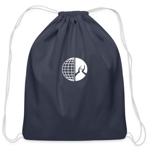 DMI Logo White - Cotton Drawstring Bag