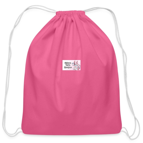 sylvee is a troll - Cotton Drawstring Bag