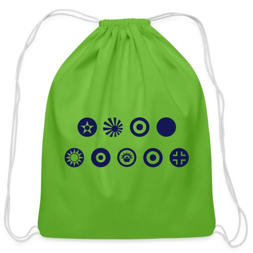 Axis & Allies Country Symbols - One Color - Cotton Drawstring Bag
