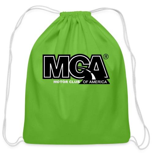 MCA Logo WBG Transparent BLACK TITLEfw fw png - Cotton Drawstring Bag