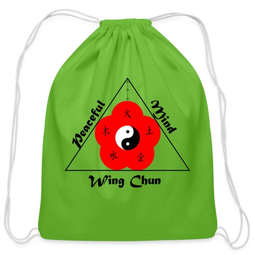 Peaceful Mind Vector - Cotton Drawstring Bag