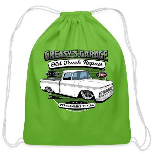 Greasy's Garage Old Truck Repair - Cotton Drawstring Bag
