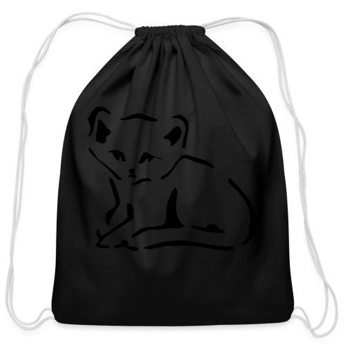 Kitty Cat - Cotton Drawstring Bag