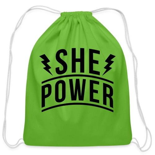 She Power - Cotton Drawstring Bag