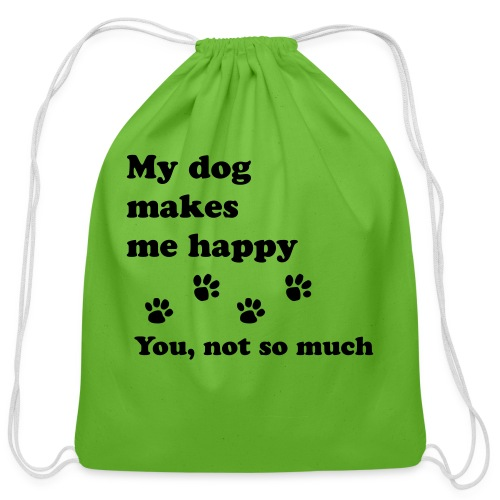 love dog 2 - Cotton Drawstring Bag
