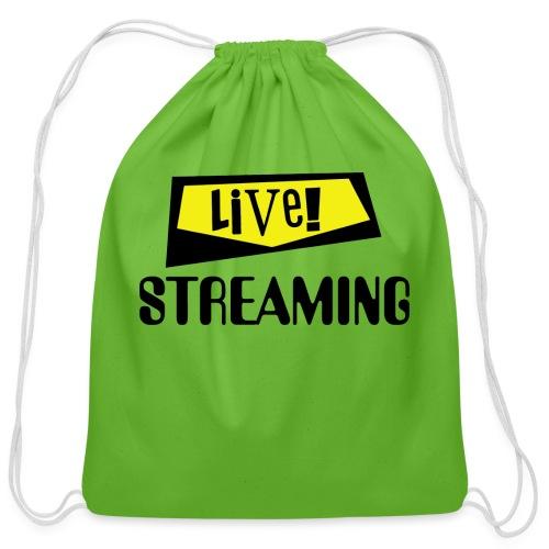 Live Streaming - Cotton Drawstring Bag