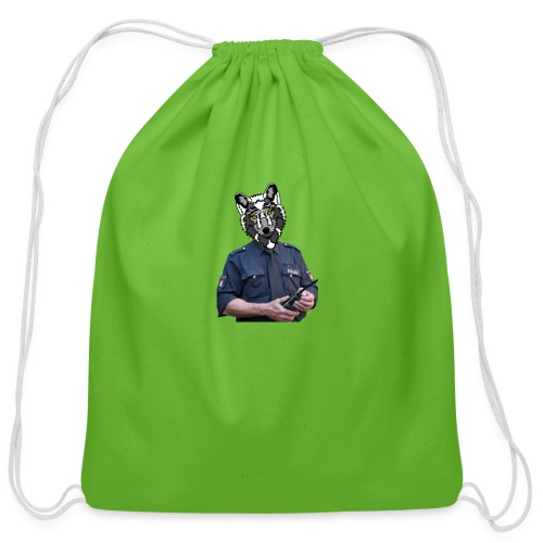 wolf police - Cotton Drawstring Bag