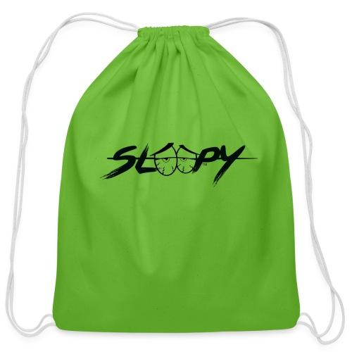 Sleepy Logo Black - Cotton Drawstring Bag
