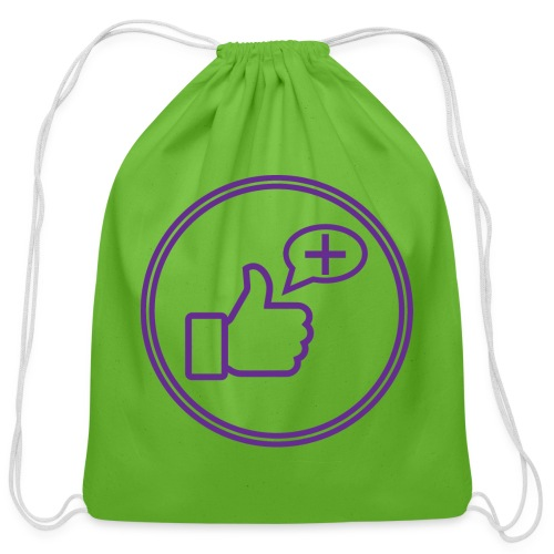 Stay Positive Icons - Cotton Drawstring Bag