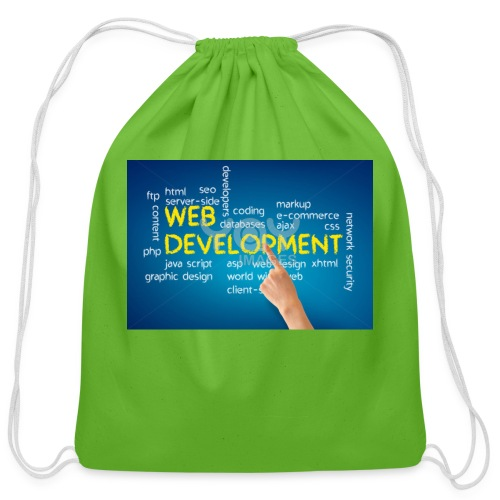 web development design - Cotton Drawstring Bag