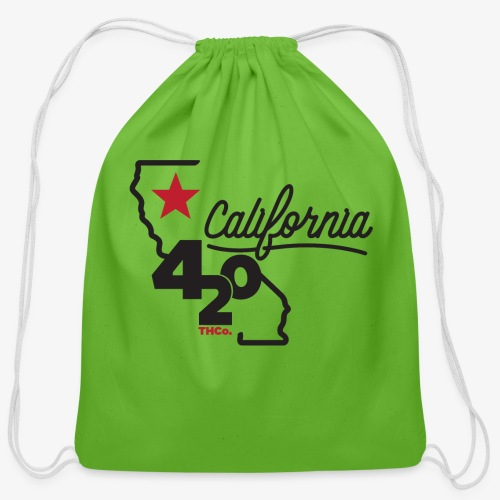 California 420 - Cotton Drawstring Bag