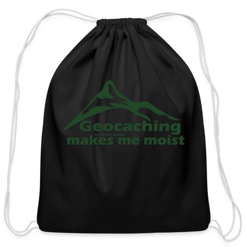 Geocaching in the Rain - Cotton Drawstring Bag