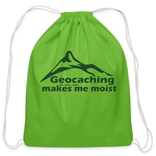 Geocaching in the Rain - Cotton Drawstring Bag