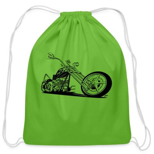 Custom American Chopper Motorcycle - Cotton Drawstring Bag