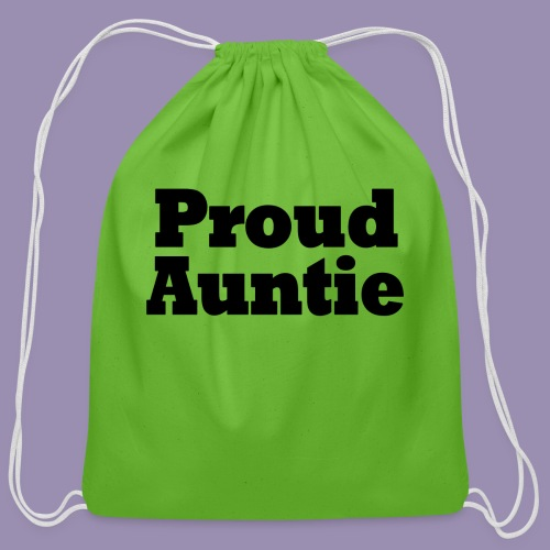 Proud Auntie - Cotton Drawstring Bag