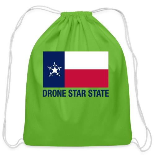 Drone Star State - Long Sleeve - Cotton Drawstring Bag