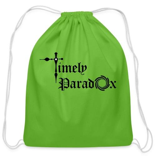 Timely Paradox - Cotton Drawstring Bag
