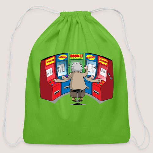 THE GAMBLIN' GRANNY - Cotton Drawstring Bag