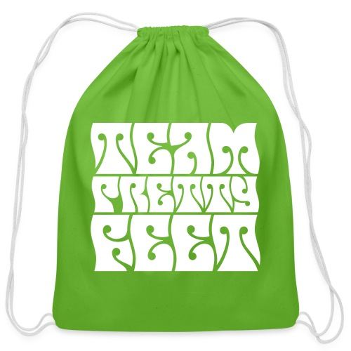 Team Pretty Feet Peace & Love - Cotton Drawstring Bag