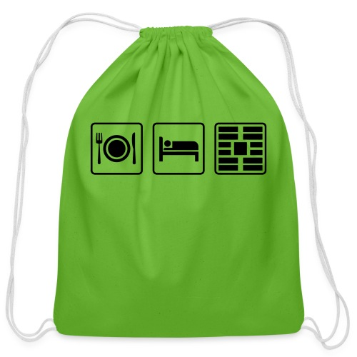 Eat Sleep Urb big fork - Cotton Drawstring Bag
