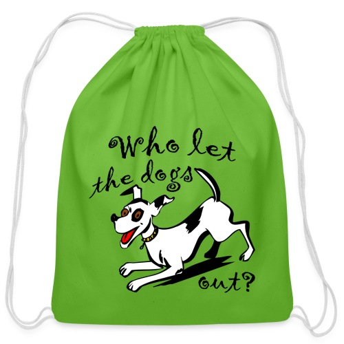 Happy Dog - Cotton Drawstring Bag