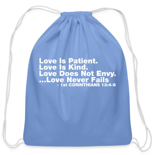 Love Bible Verse - Cotton Drawstring Bag
