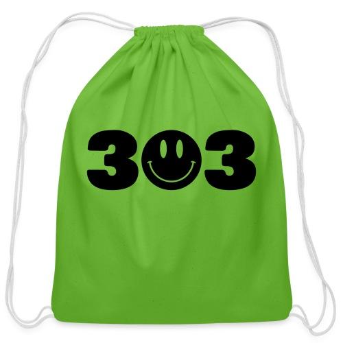3 Smiley 3 - Cotton Drawstring Bag