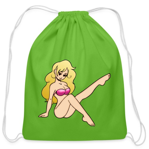 Hot Blonde - Cotton Drawstring Bag