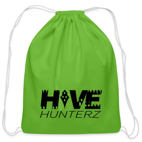 Hive Hunterz Black Logo - Cotton Drawstring Bag