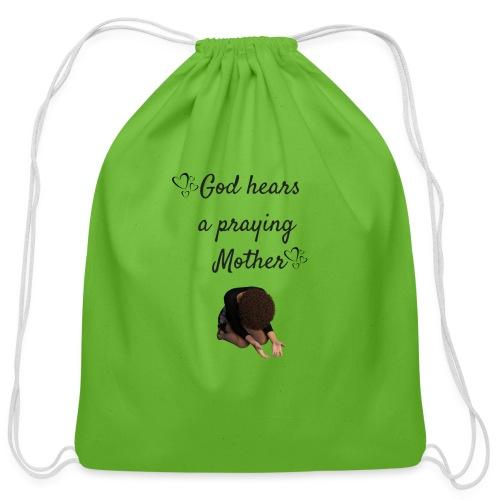 Praying Mother - Cotton Drawstring Bag