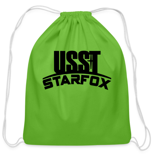 USST STARFOX Text - Cotton Drawstring Bag