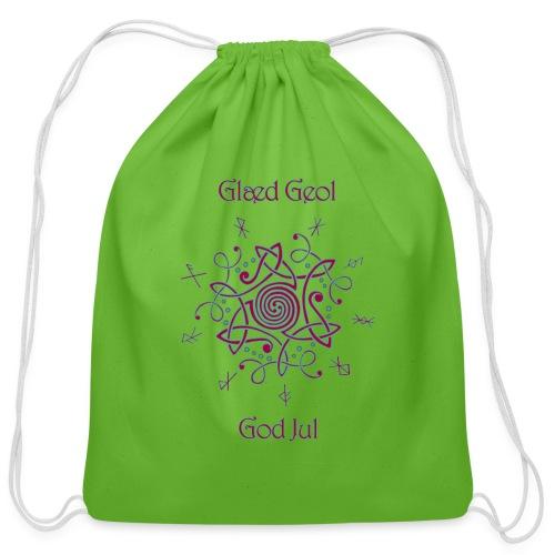 Happy Yule - Cotton Drawstring Bag