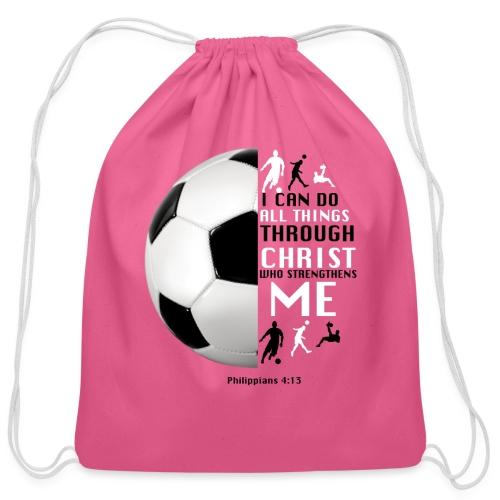 soccer - Cotton Drawstring Bag