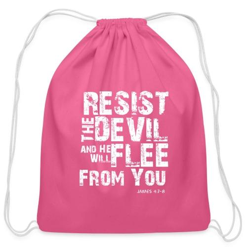 Resist the Devil - Cotton Drawstring Bag