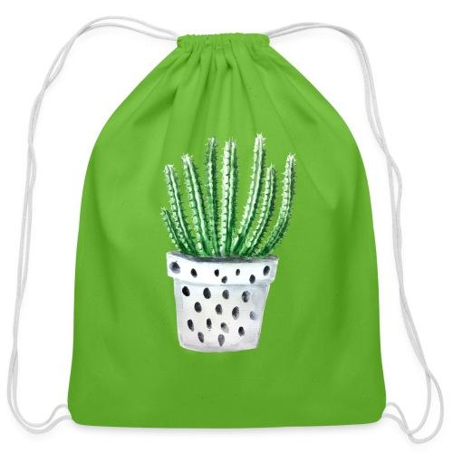 Cactus - Cotton Drawstring Bag