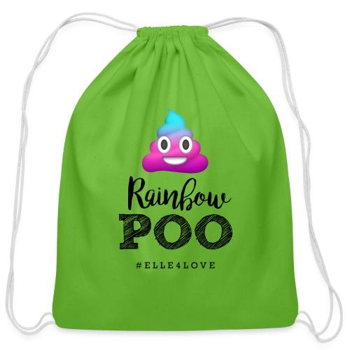 Rainbow Poo - Cotton Drawstring Bag