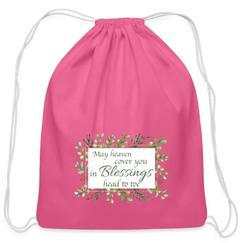 Blessings head to toe - Cotton Drawstring Bag