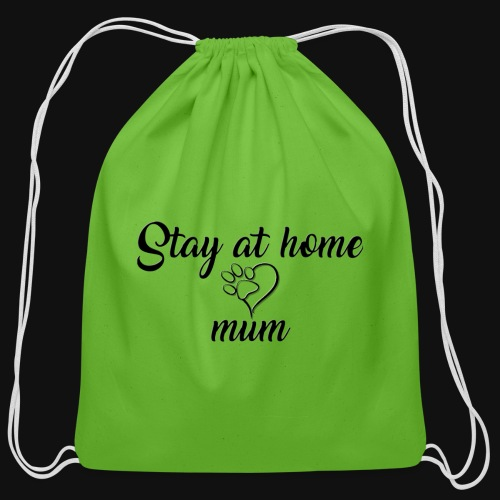 Stay At Home Mum - Cotton Drawstring Bag