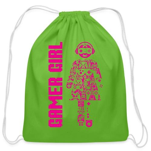 Gamer Girl - Cotton Drawstring Bag