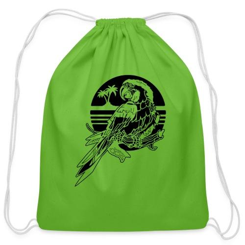 Tropical Parrot - Cotton Drawstring Bag