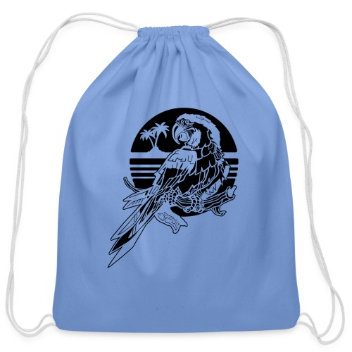 Tropical Parrot - Cotton Drawstring Bag