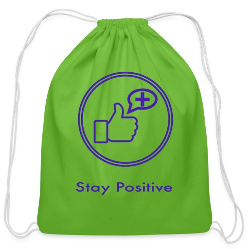 Stay Positive Icons without inwils - Cotton Drawstring Bag