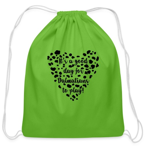 Dalmatians Play - Cotton Drawstring Bag