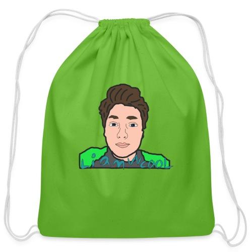 LiamWcool head tee - Cotton Drawstring Bag