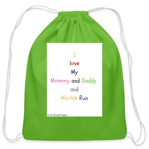 Hi I'm Ronald Seegers Collection-What I love - Cotton Drawstring Bag