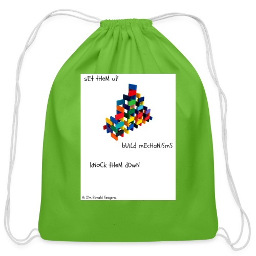 Hi I'm Ronald Seegers Collection-dominoes - Cotton Drawstring Bag