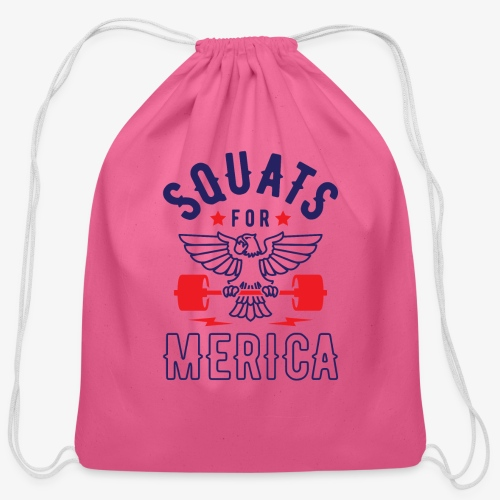 Squats For Merica v2 - Cotton Drawstring Bag