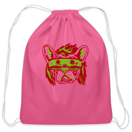 Beach Pooch - Cotton Drawstring Bag